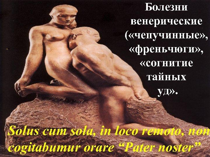 Болезни венерические ( «чепучинные» , «френьчюги» , «согнитие тайных уд» . Solus cum sola,