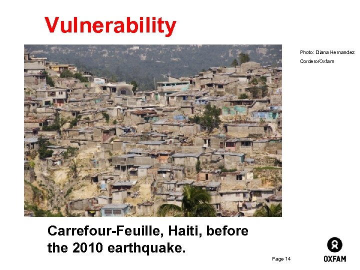 Inside Lebanon – Vulnerability where children play Photo: Diana Hernandez Cordero/Oxfam Carrefour-Feuille, Haiti, before