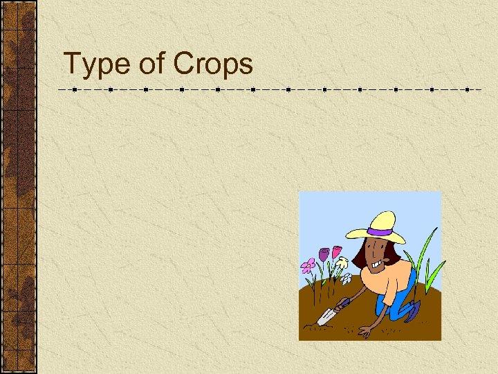 Type of Crops
