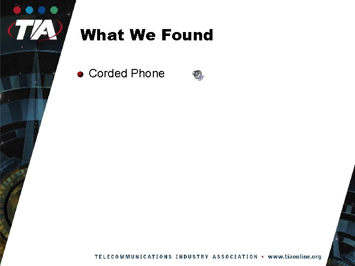 What We Found Corded Phone
