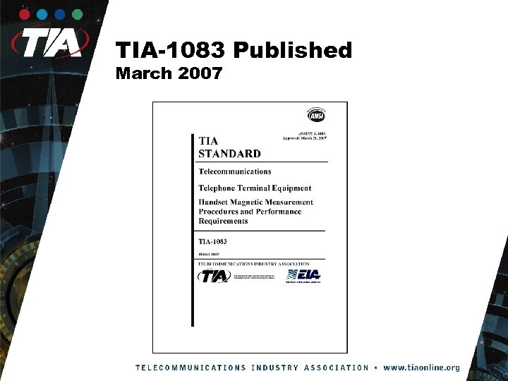 TIA-1083 Published March 2007