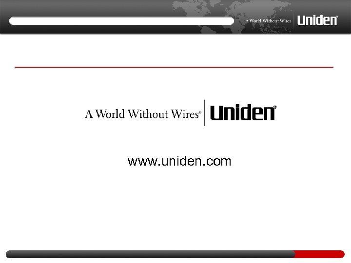 www. uniden. com