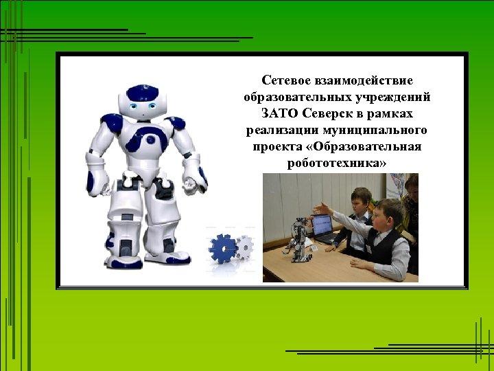 Сетевое взаимодействие образовательных учреждений ЗАТО Северск в рамках реализации муниципального проекта «Образовательная робототехника»