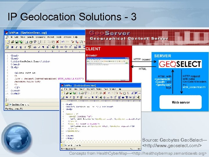 IP Geolocation Solutions - 3 Source: Geobytes Geo. Select— <http: //www. geoselect. com/> Concepts