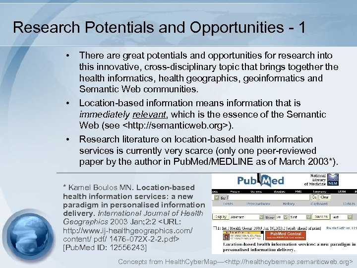 Research Potentials and Opportunities - 1 • • • There are great potentials and
