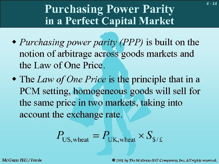 Purchasing Power Parity 4 - 14 in a Perfect Capital Market w Purchasing power