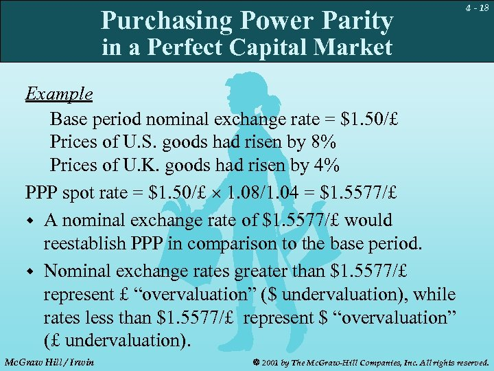 Purchasing Power Parity 4 - 18 in a Perfect Capital Market Example Base period