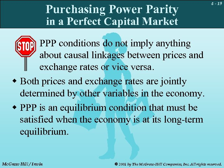 Purchasing Power Parity 4 - 19 in a Perfect Capital Market PPP conditions do