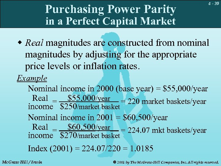 Purchasing Power Parity 4 - 20 in a Perfect Capital Market w Real magnitudes