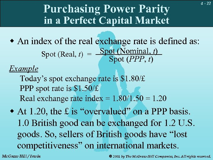 Purchasing Power Parity 4 - 22 in a Perfect Capital Market w An index