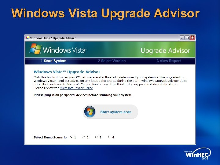 Windows Vista Upgrade Advisor