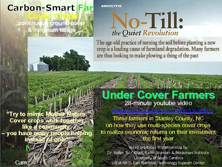 Confronting National Conference on Cover Crops & Soil Health Carbon-Smart Farming Cover Crops continuous