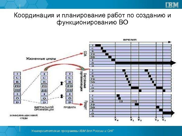 Координация и планирование работ по созданию и функционированию ВО Университетские программы IBM для России