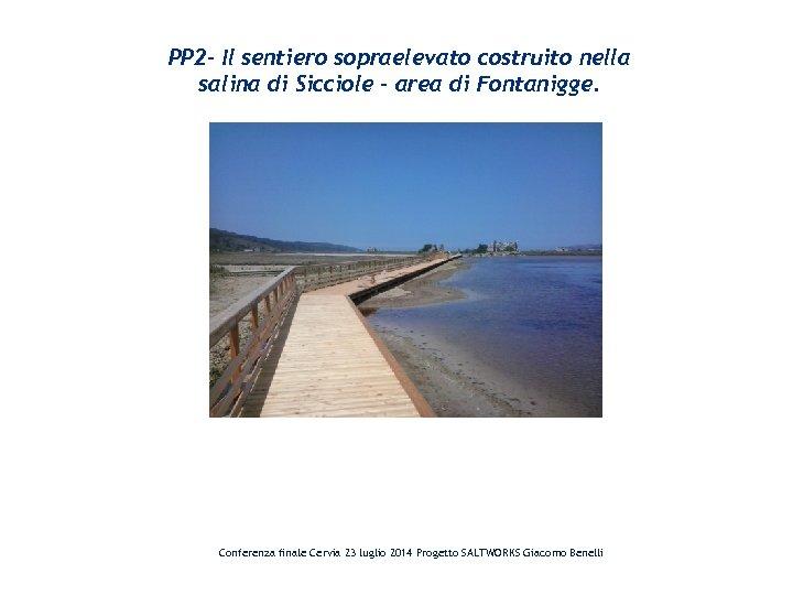 PP 2 - Il sentiero sopraelevato costruito nella salina di Sicciole – area di