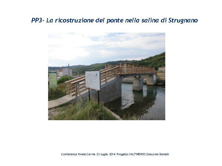 PP 3 - La ricostruzione del ponte nella salina di Strugnano Conferenza finale Cervia