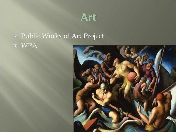 Art Public Works of Art Project WPA