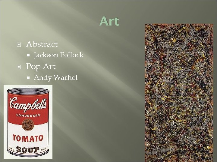 Art Abstract Jackson Pollock Pop Art Andy Warhol