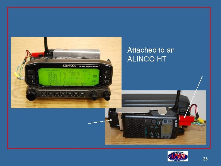 Attached to an ALINCO HT 36