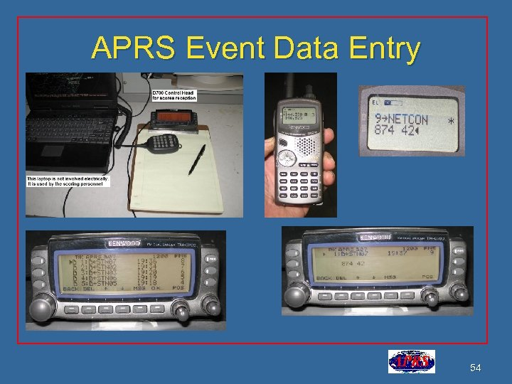 APRS Event Data Entry 54