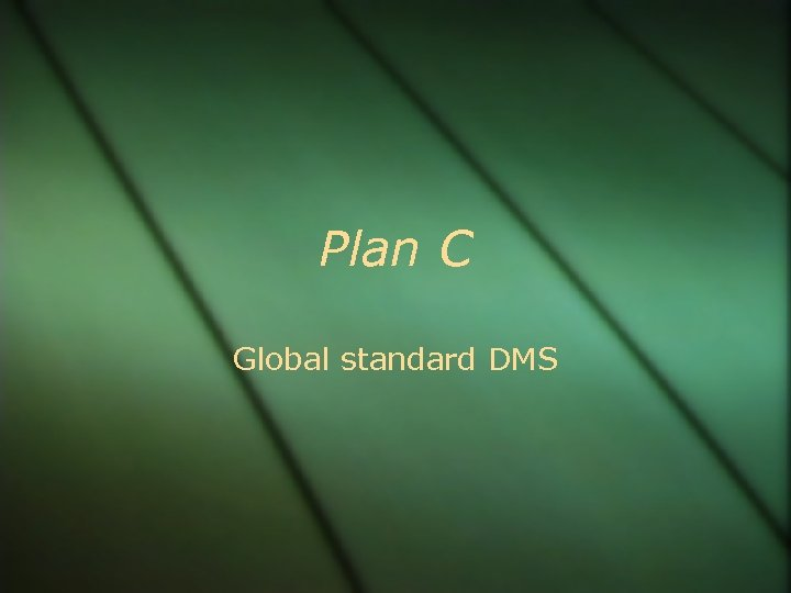 Plan C Global standard DMS