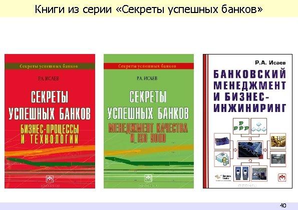 Книги из серии «Секреты успешных банков» 40