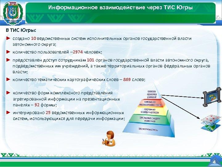 Информационное взаимодействие через ТИС Югры Департамент информационных технологий Ханты-Мансийского автономного округа - Югры В