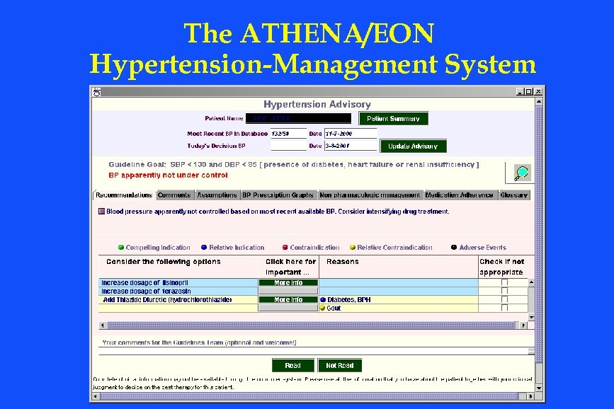 The ATHENA/EON Hypertension-Management System