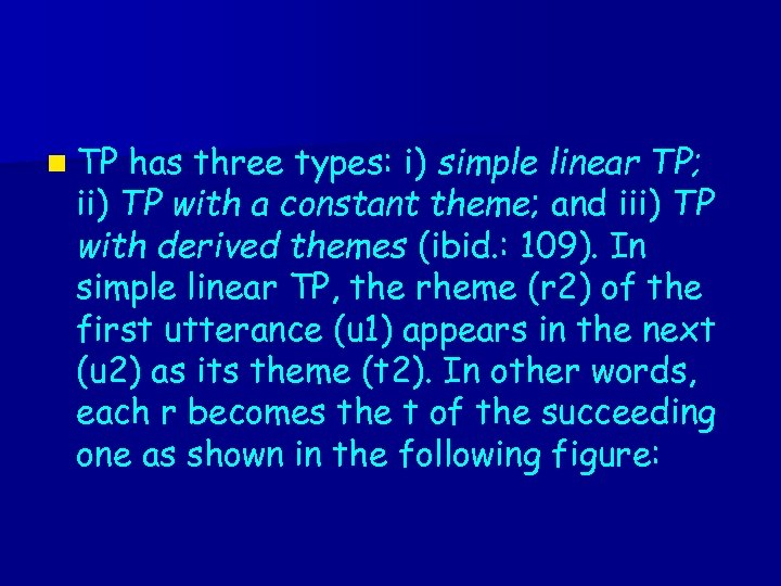 n TP has three types: i) simple linear TP; ii) TP with a constant