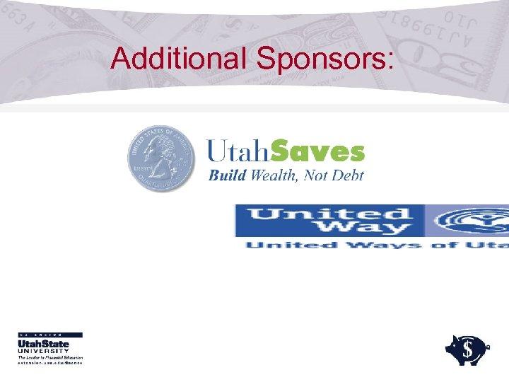 Additional Sponsors: