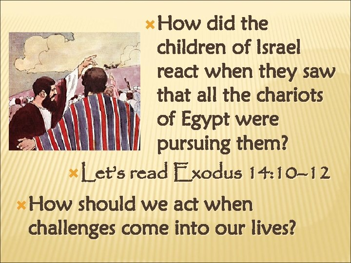 How did the children of Israel react when they saw that all the
