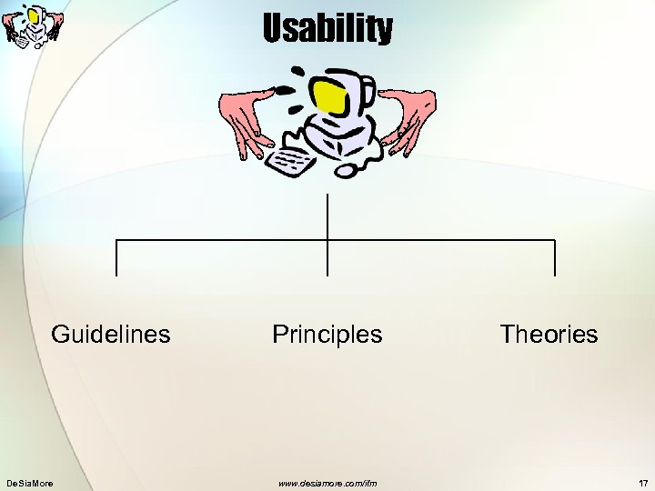 Usability Guidelines De. Sia. More Principles www. desiamore. com/ifm Theories 17