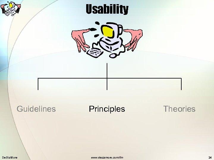 Usability Guidelines De. Sia. More Principles www. desiamore. com/ifm Theories 24