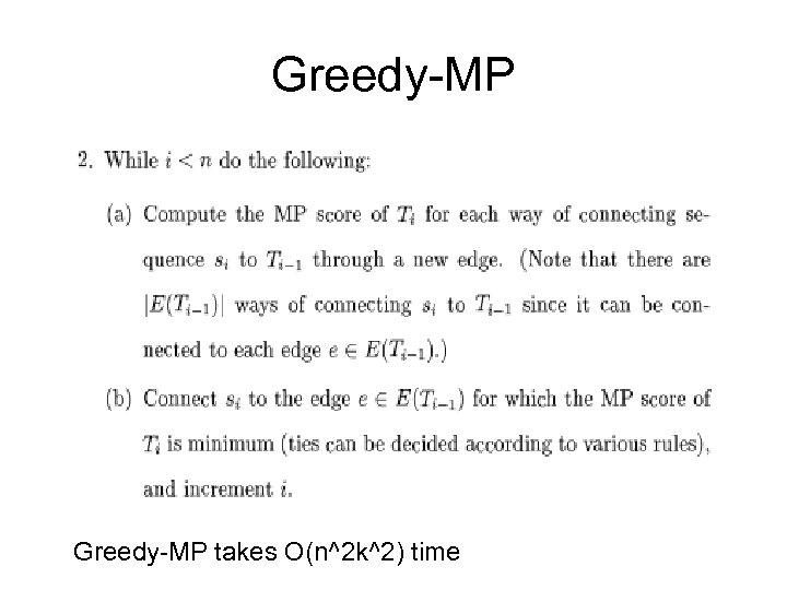 Greedy-MP takes O(n^2 k^2) time