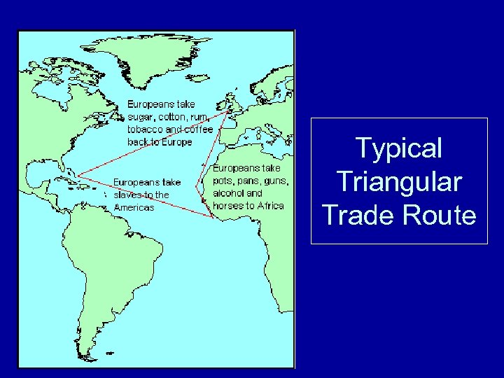 Typical Triangular Trade Route