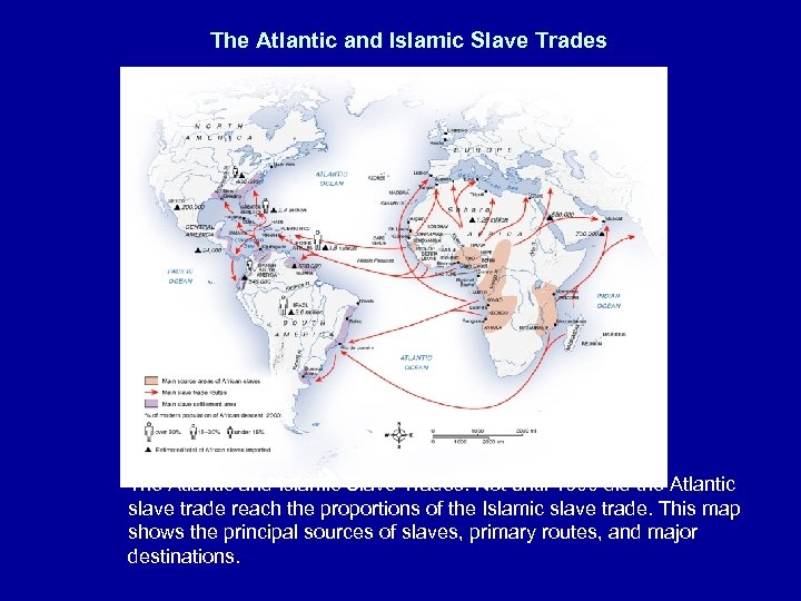 The Atlantic and Islamic Slave Trades: Not until 1600 did the Atlantic slave trade