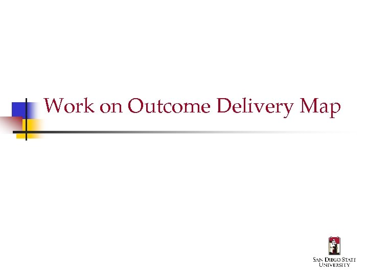 Work on Outcome Delivery Map