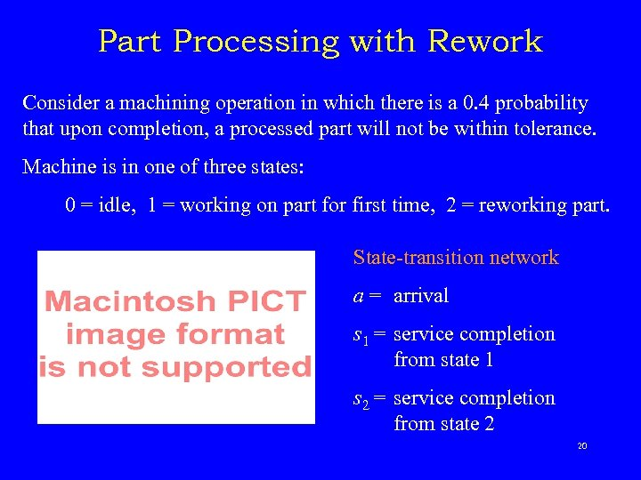 Part Processing with Rework Consider a machining operation in which there is a 0.