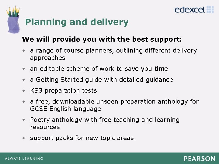 Planning and delivery Click to edit Master title style We will provide you with