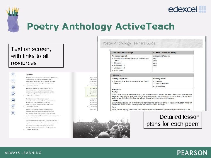 Poetry Anthology Active. Teach Click to edit Master title style • Click to edit