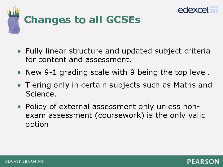 Changes to all GCSEs Click to edit Master title style Click to edit Master