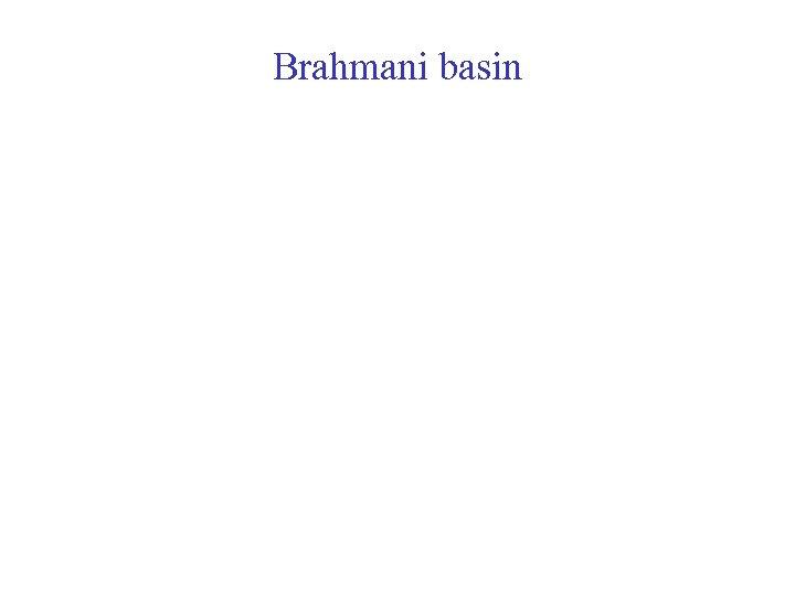Brahmani basin