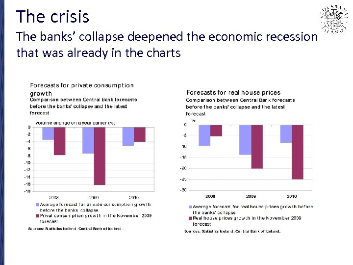 The crisis The banks' collapse deepened the economic recession that was already in the