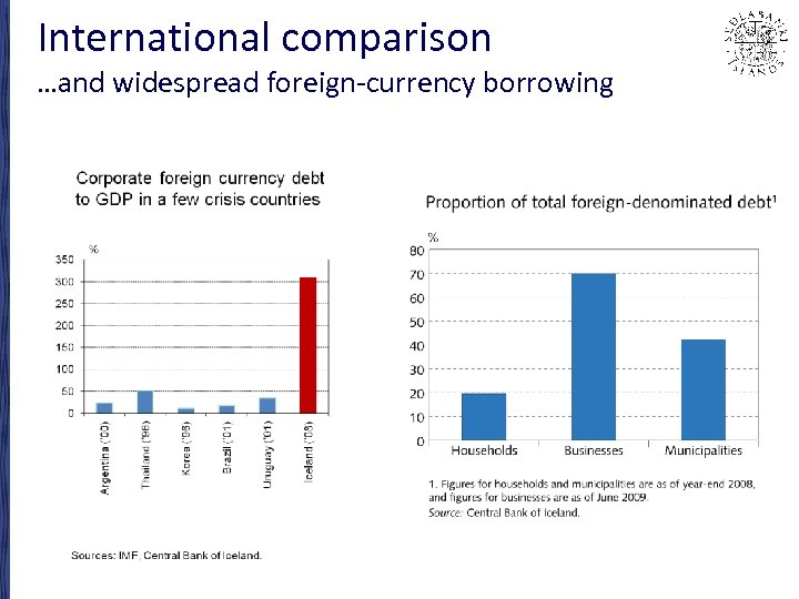 International comparison …and widespread foreign-currency borrowing