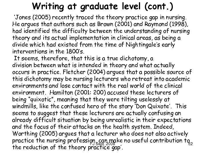 identify the characteristics of graduate writing and explain how writing at the graduate level diffe Graduate research writing differs from undergraduate writing in that it requires whereas undergraduate papers are often written for specific course requirements, graduate papers can be appropriate sources for graduate-level research research is a crucial tool for developing your.