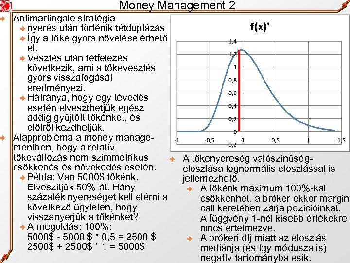Money Management 2 Antimartingale stratégia nyerés után történik tétduplázás Így a tőke gyors növelése