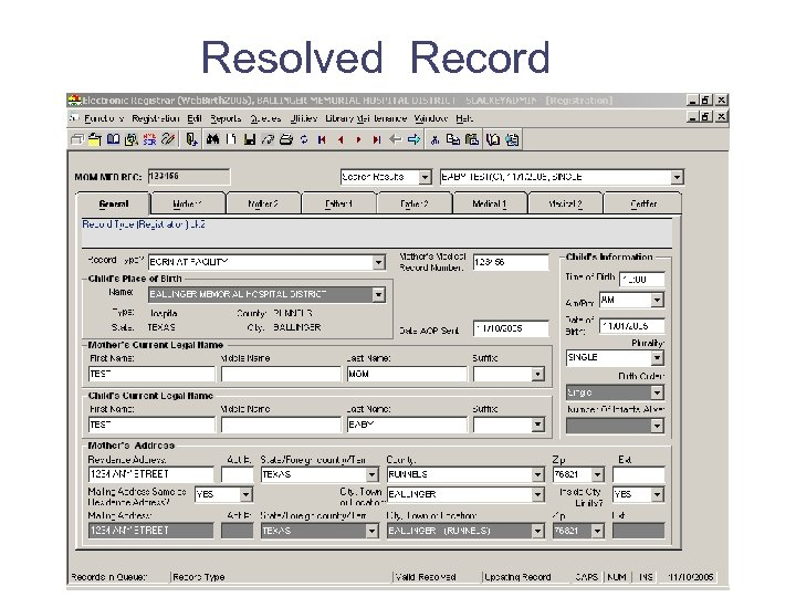 Resolved Record
