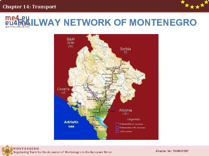 Chapter 14: Transport RAILWAY NETWORK OF MONTENEGRO Negotiating Team for the Accession of Montenegro