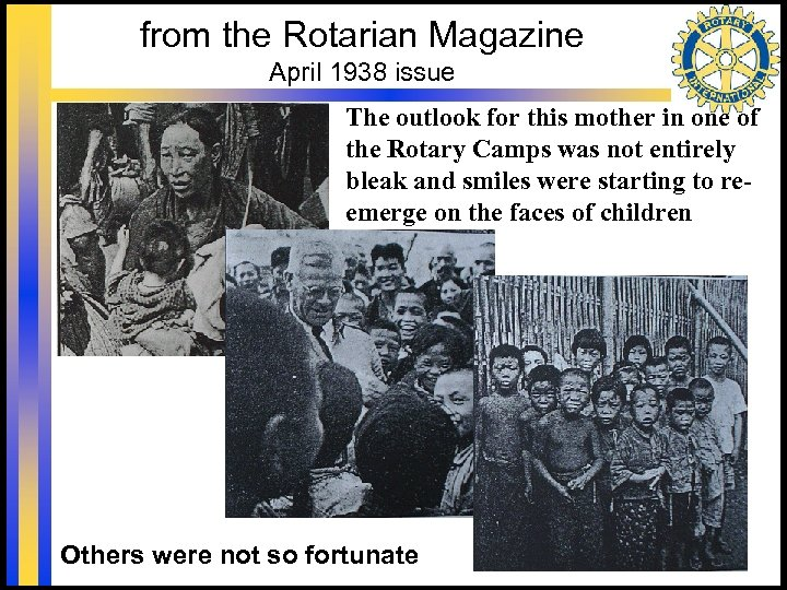 from the Rotarian Magazine April 1938 issue The outlook for this mother in one