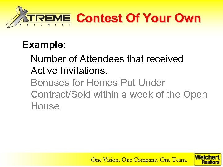 Contest Of Your Own Example: Number of Attendees that received Active Invitations. Bonuses for