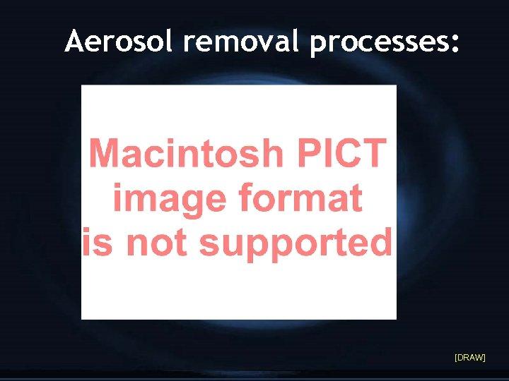 Aerosol removal processes: [DRAW]
